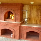 Fireplace from Lego brick