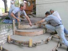 Varanda alagada com concreto