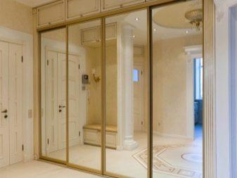 Armadio A Muro Con Specchio.Corridoi Incorporati 55 Foto Idee Per La Progettazione Di