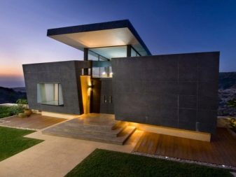 High Tech Houses 79 Photos The Best Projects Of Single Storey Frame Houses With A Flat Roof