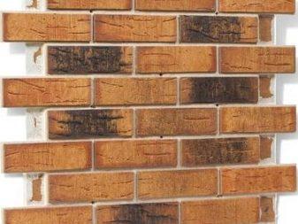 6 m Brique feuillets Revêtement Mur Tuiles Flexibles - Sombre Brique m2