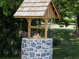 Pozo decorativo (73 fotos): cómo hacer una opción de madera para el jardín  en el país con sus propias manos - instrucciones paso a paso, ideas para  hacer troncos y ruedas