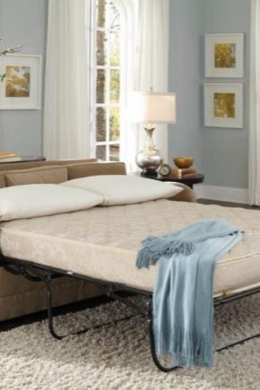 Canapé avec le mécanisme de transformation du lit français pliant