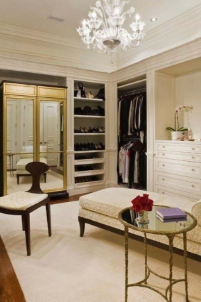 Dressing room, its design and content