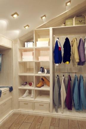 Wardrobe in the attic
