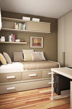 Soffa med lådor