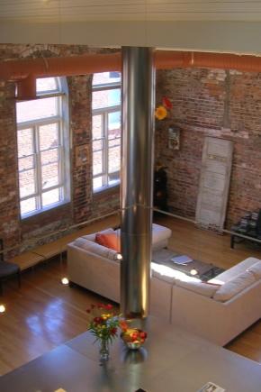 Studio lägenhet i stil med ett loft