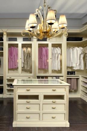 Möbler för garderobsrummet