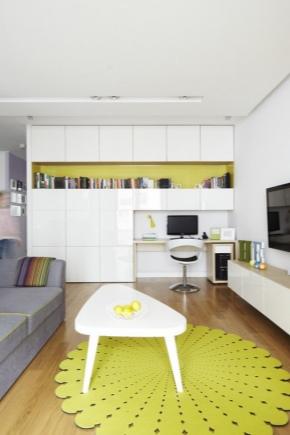 Möbler för en studio lägenhet