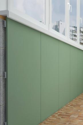 Finition des plaques de plâtre balcon