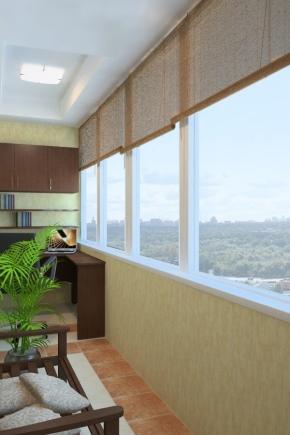 Choisir des rideaux sur le balcon