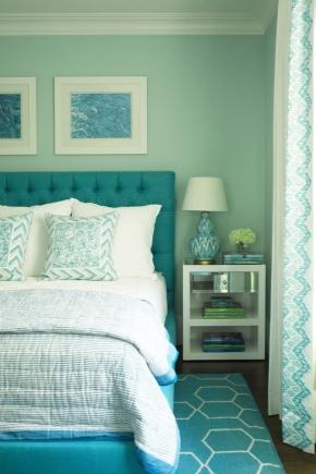 Turquoise bedroom (68 photos): interior design in chocolate ...