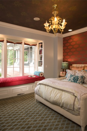 Design a beautiful bedroom in a private house