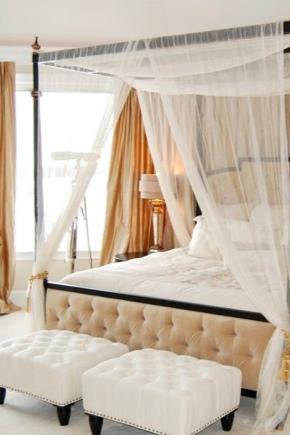 एक चंदवा के साथ बेडरूम डिजाइन