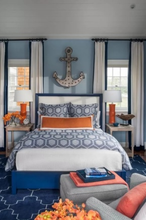 Bedroom in nautical style