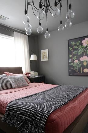Bedroom in gray tones