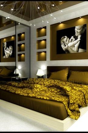 Chambre à coucher de style moderne (68 photos): design d ...