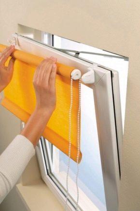 Installation av rullade gardiner på plastfönster