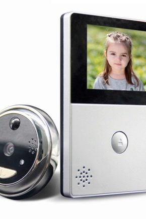 Porte vidéo sans fil sur la porte: caractéristiques et spécifications