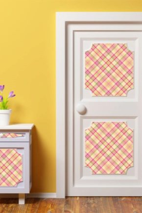 Doors with a picture: ideas and options patterns