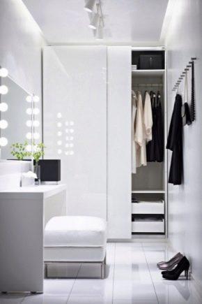 Armoires de luxe en blanc brillant: décoration intérieure