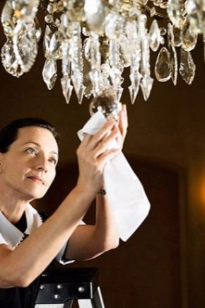 Как да се измие полилей?