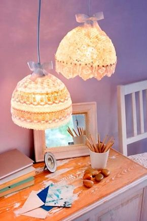 How to make a lampshade with your own hands?