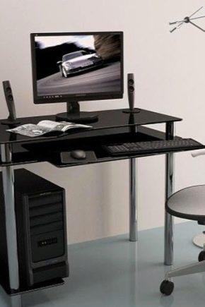Table en verre d'ordinateur