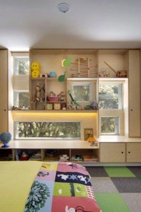 Armoires autour de la fenêtre: caractéristiques de conception