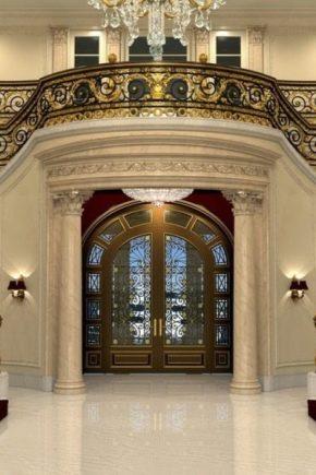 أبواب زجاجية ملونة في الداخل