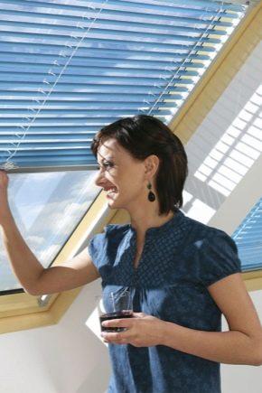Persienner på takfönster