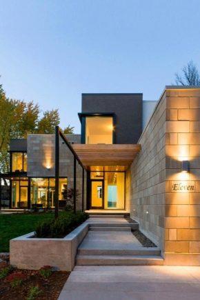 Projekt av hus i modern stil