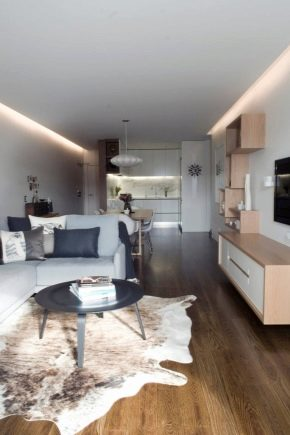 Variants and features of redevelopment one-room apartment