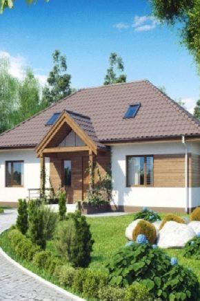 Varianter av utformningen av ett envåningshus som mäter 12x12 m