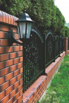 Brick fence in landscape design