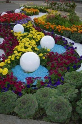 Funktioner av designen av blomsterbäddar och blomsterbäddar av kontinuerlig blomning med egna händer