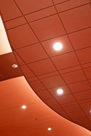 Stretch ceiling spotlights