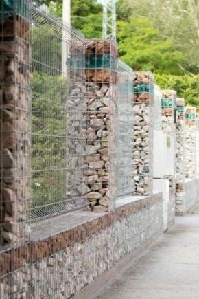 Gabion staket: design funktioner