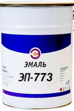 Emalj EP-773: Tekniska egenskaper och färgpalett