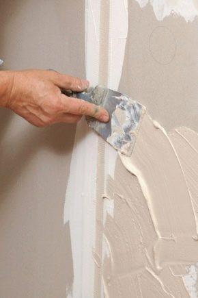 Hur sätter man på väggarna: detaljerna i processen