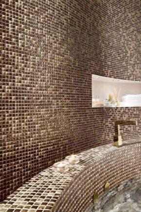 Brun mosaik i inredningen
