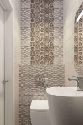 Mosaic på toaletten: idéer för dekoration