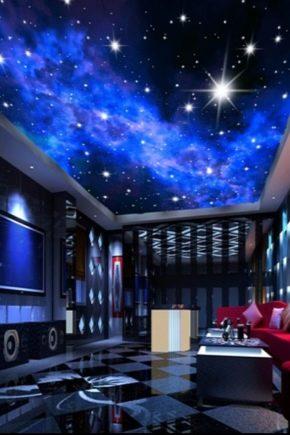 Sträcka tak Stjärnhimmel i inredningen