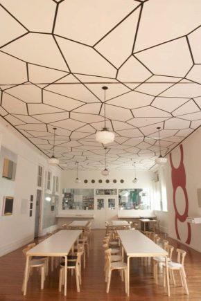 Plafond de styles différents: idées à l'intérieur