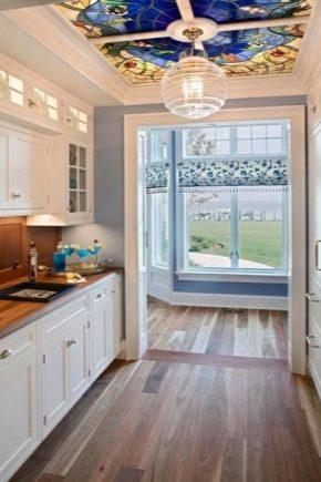Målat glas tak: egenskaper och fördelar