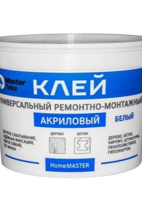 Adhésif acrylique: caractéristiques et application