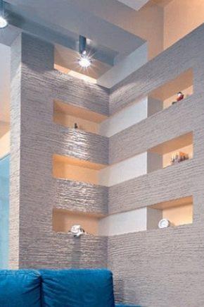 Design av gipsskivor: alternativ för lägenheter och för ett lanthus