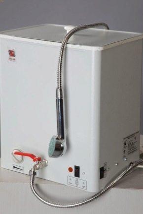 Hur man väljer ett landsvattenvärmare för en dusch?