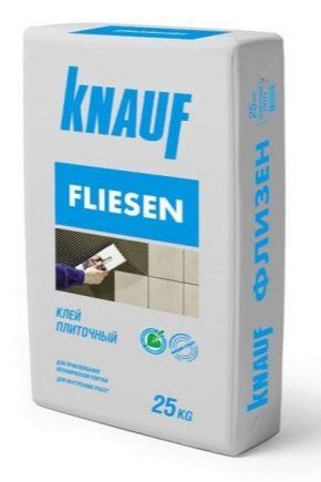 Colle Knauf: types et caractéristiques