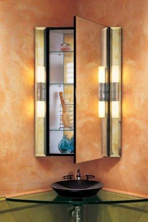 Specchio Angolare Per Bagno.Armadietto Angolare Incernierato Nel Bagno 63 Foto Armadi